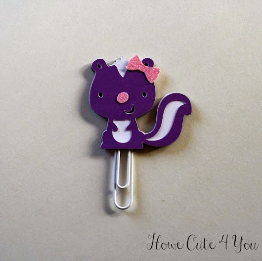 Purple Skunk Planner Clip