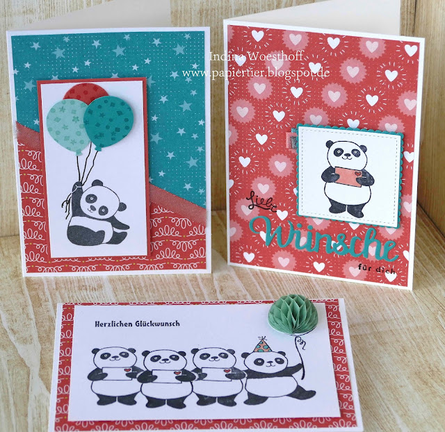 Party Pandas | Stampin' Up! | Blog Hop | papiertier Indina | SAB 2018