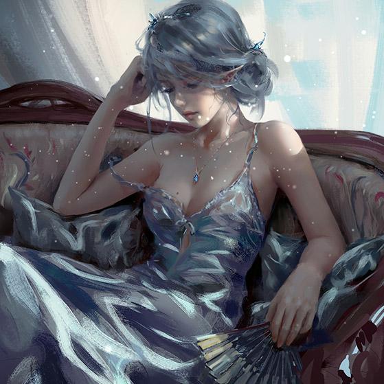 Ice Princess Wlop Wallpaper Engine