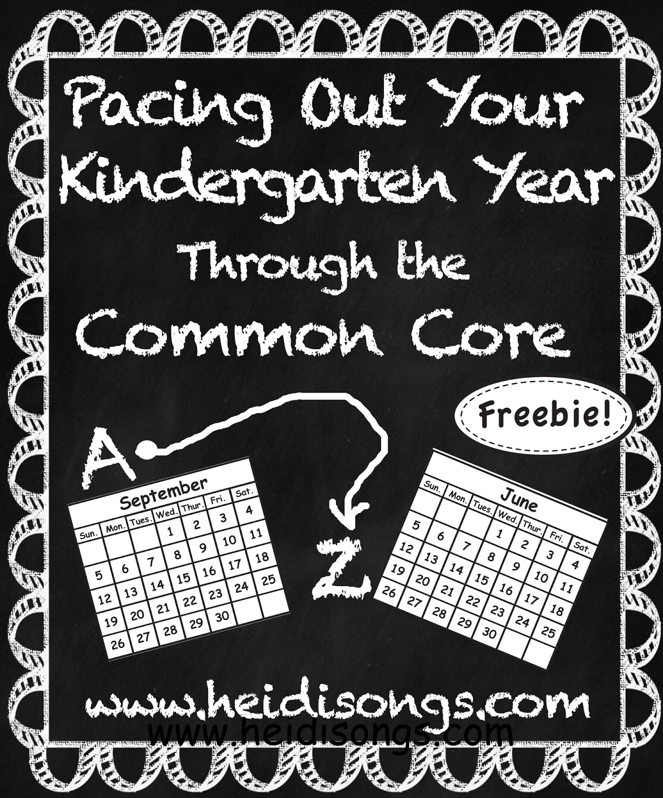 A Kindergarten Pacing Guide For The Common Core Freebie