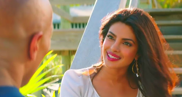 Priyanka Chopra from Baywatch, Dwayne Johnson
