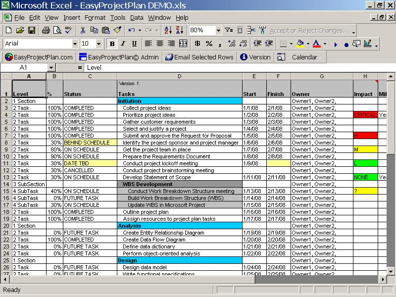 All Templates Project Plan Template
