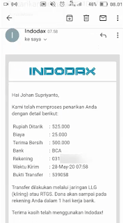 Cara Withdraw Indodax ke Rekening