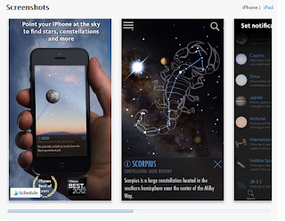 Screenshots of the Skyview App in Action
