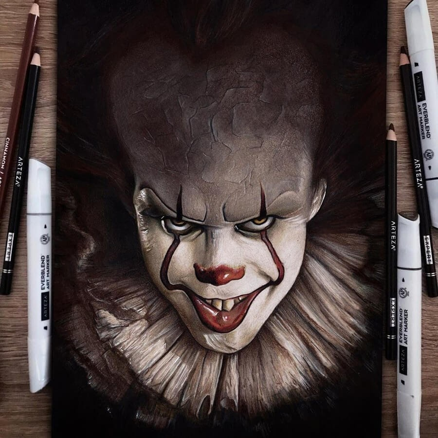 08-Pennywise-Chris-Pencil-Drawings-www-designstack-co