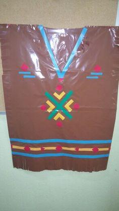 Disfraz escolar de India con bolsa de basura