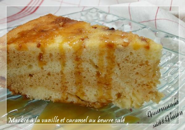 Marbré à la vanille et caramel au beurre salé