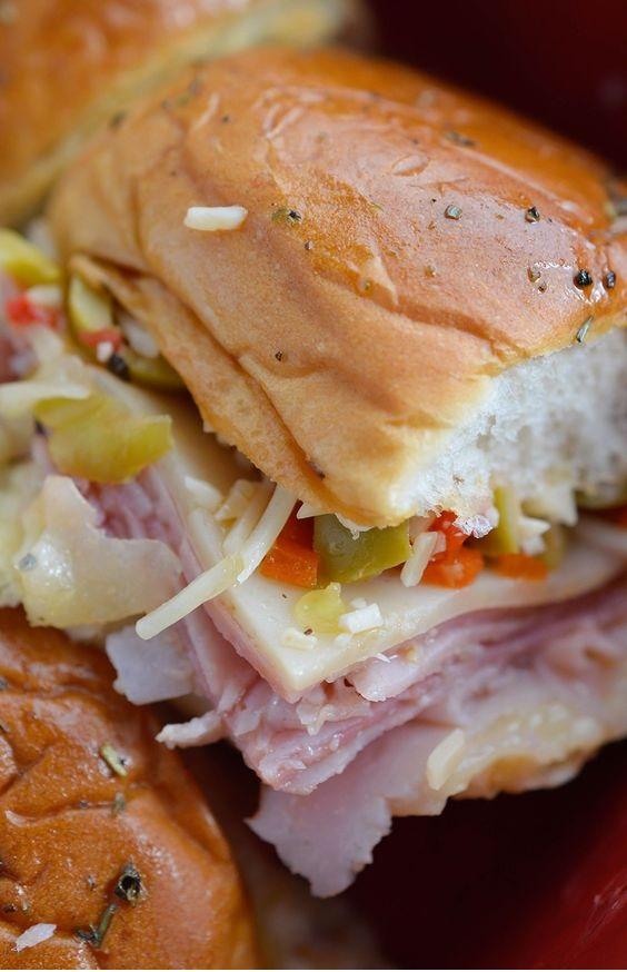 Oven Baked Muffalata Sandwiches