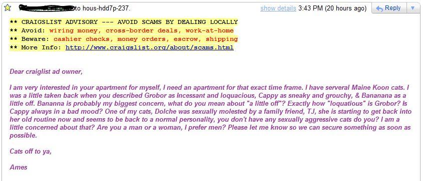 Dear Sir Or Madam Dc Craigslist Please Sublet My