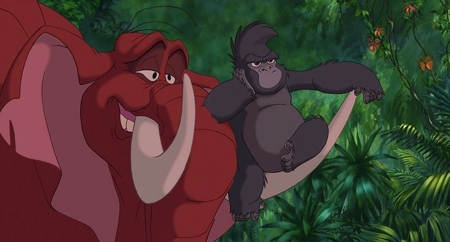 15-Tarzan-Terk-and-Tantor-Alaina-Bastian-s0alaina-Drawings-of-Disney-Animals-with-a-Second-Life-as-Humans