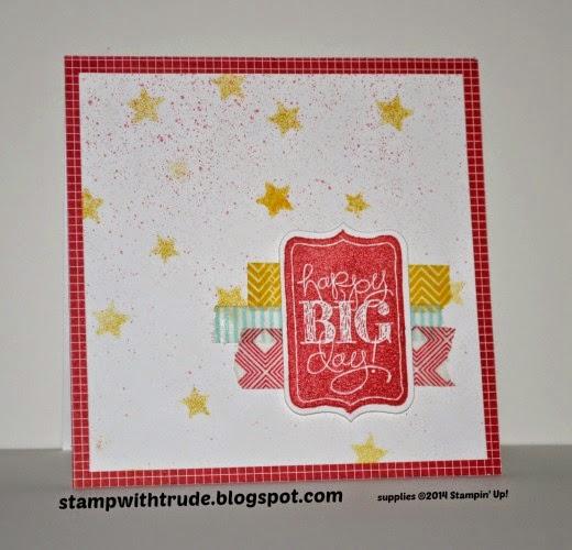 stampwithtrude.blogspot.com Stampin' Up! card Chalk Talk stamp set