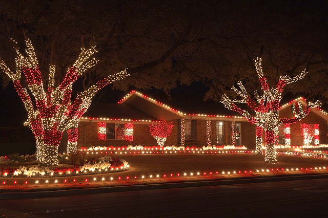 Opting for an LED color scheme, such as white and red, will set your Christmas light display apart from your neighbors.