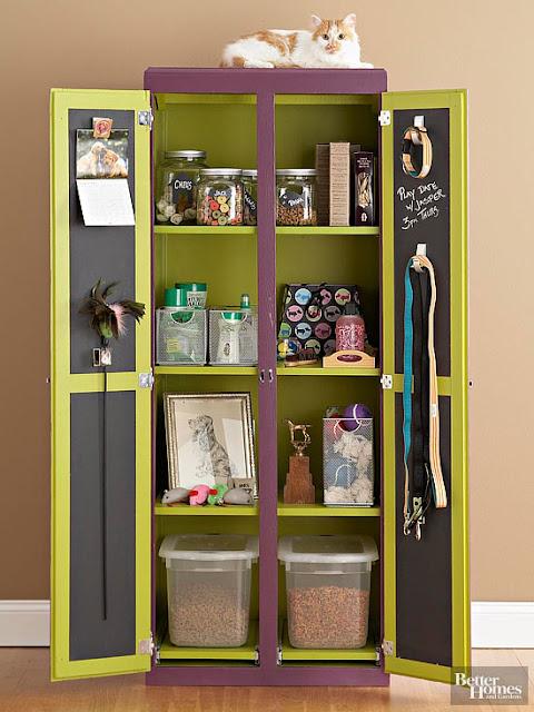 Pet station armoire :: OrganizingMadeFun.com