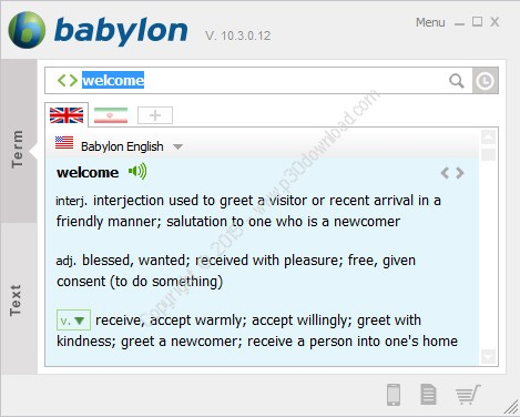 babylone dictionary free download