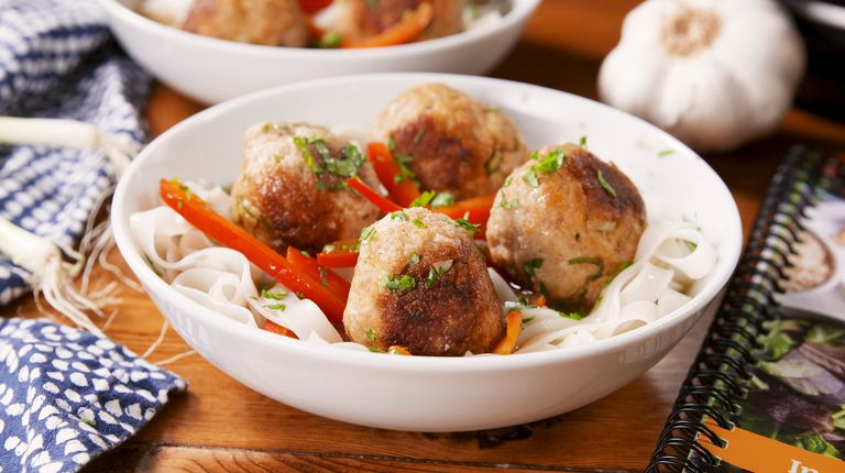 Instant Pot Thai Turkey Meatballs With Rice Noodles