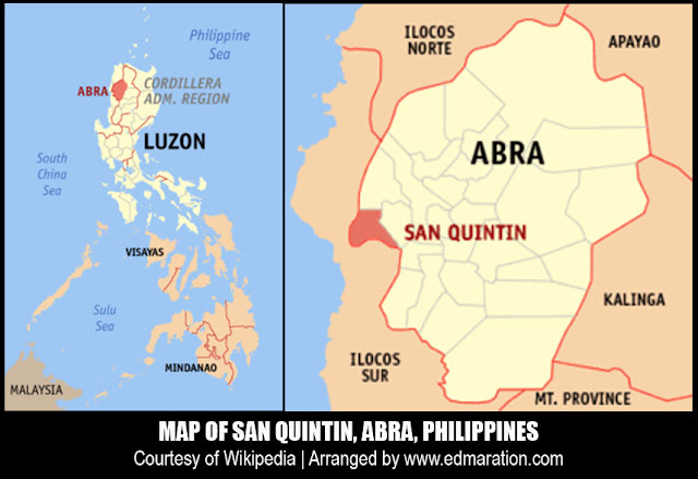 Map of San Quintin, Abra