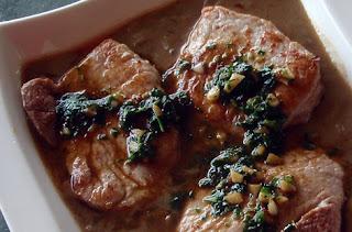 carne de cerdo con salsa de boletus edulis