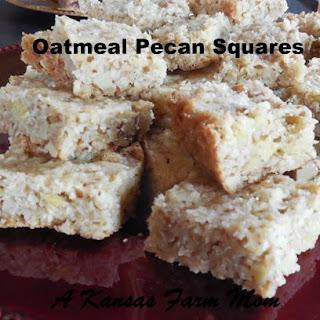Tales Of A Kansas Farm Mom 30 Minute Oatmeal Pecan Squares