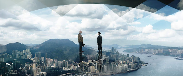 Dwayne Johnson and Chin Han in Skyscraper (2018)