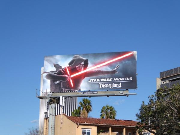 Disneyland Star Wars Awakens billboard