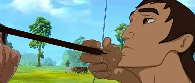 Screen Shot Of Hindi Animation Movie Arjun The Warrior Prince 2012 300MB Short Size Download And Watch Online Free at worldofree.co