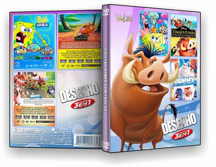 CAPA DVD – Coleção Desenho 3 em 1 – ISO