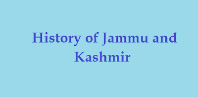 Important Questions on History of Jammu and Kashmir