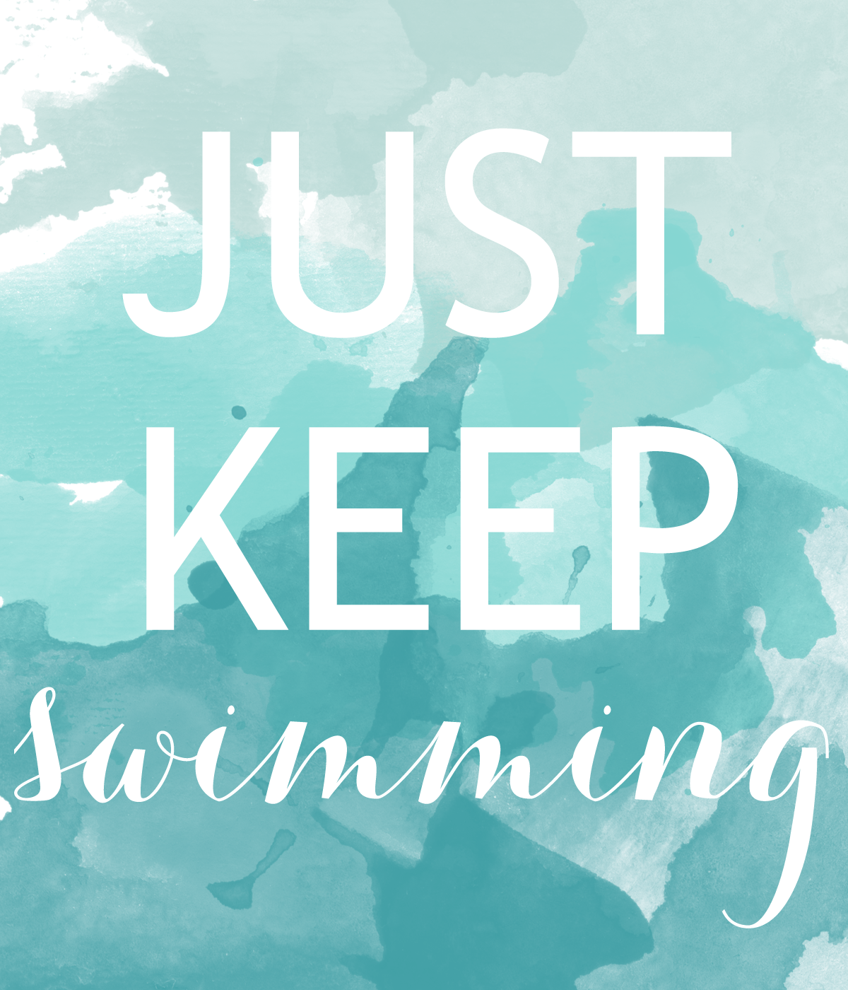 Just Keep Swimming | meanderingswithgod |Just Keep Swimming