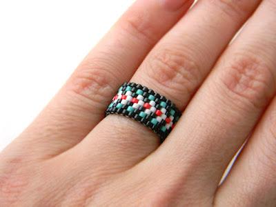 женские кольца в стиле бохо купить украшения из бисера в интернет магазине