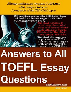 Toefl essay questions and answers