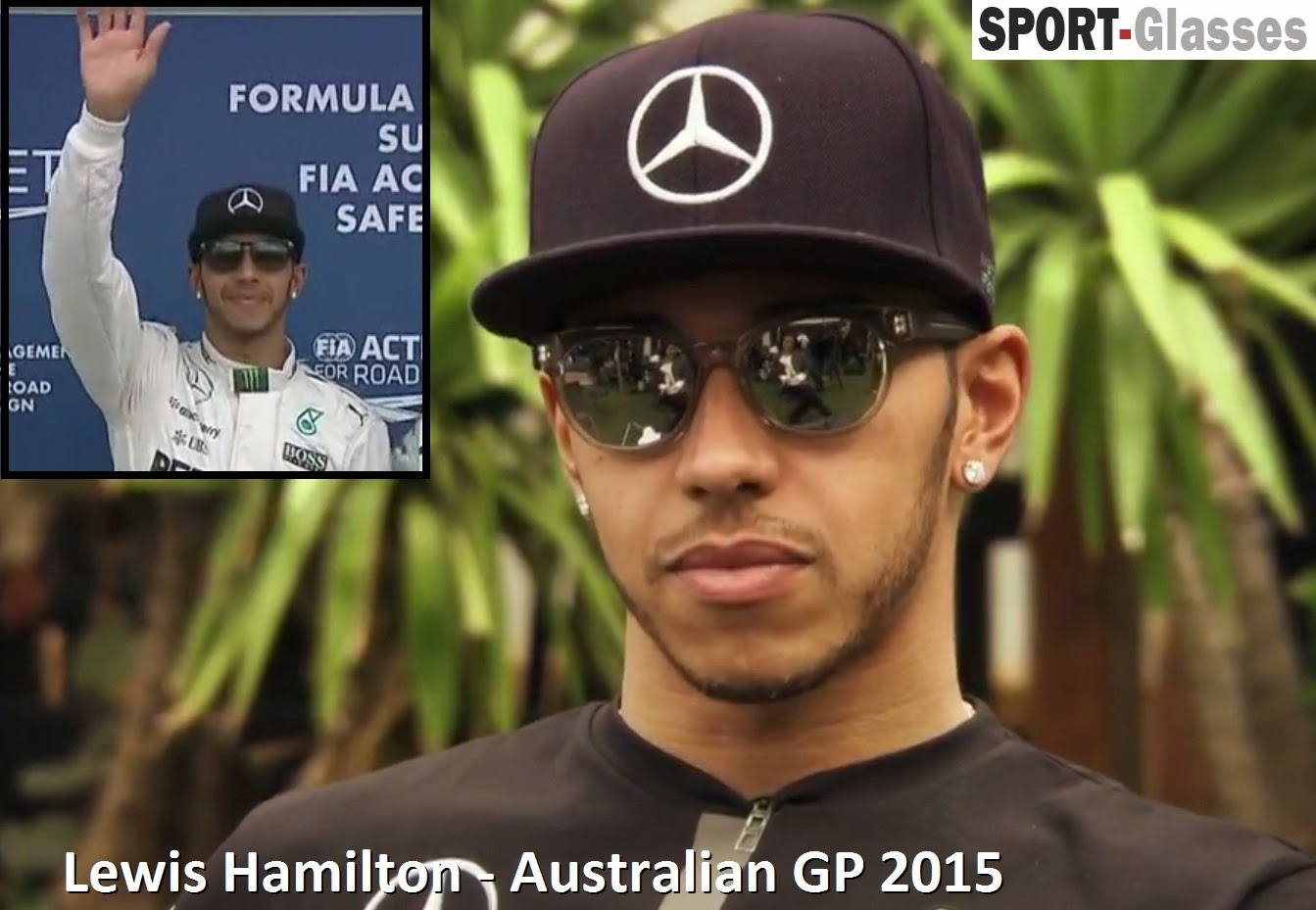 Lewis Hamilton Wearing Sunglasses at The Australian GP 2015