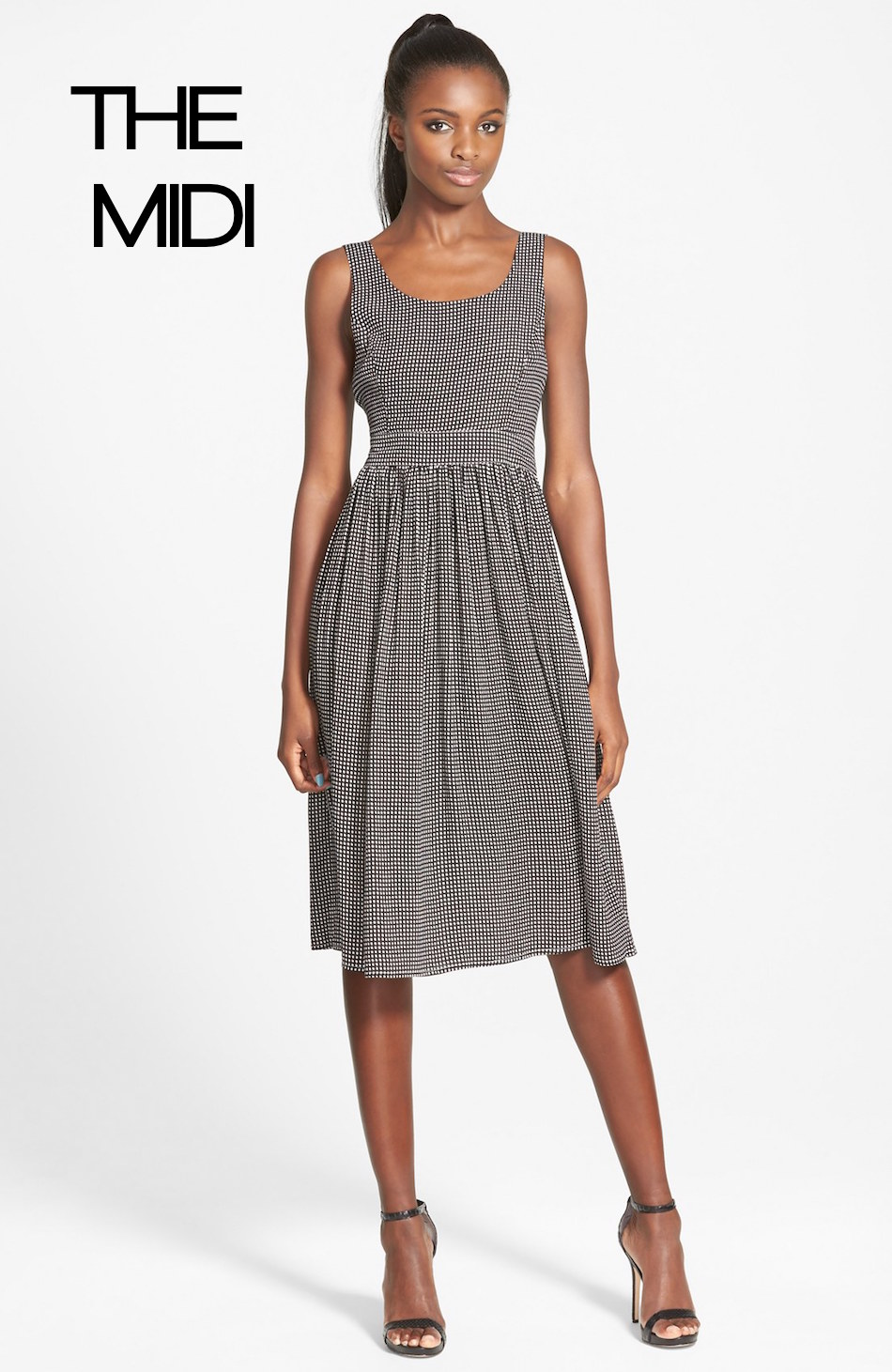 MINKPINK 'Spot the Diff' Scoop Back Midi Dress