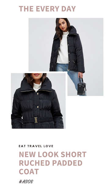 New Look Short Ruched Padded Coat