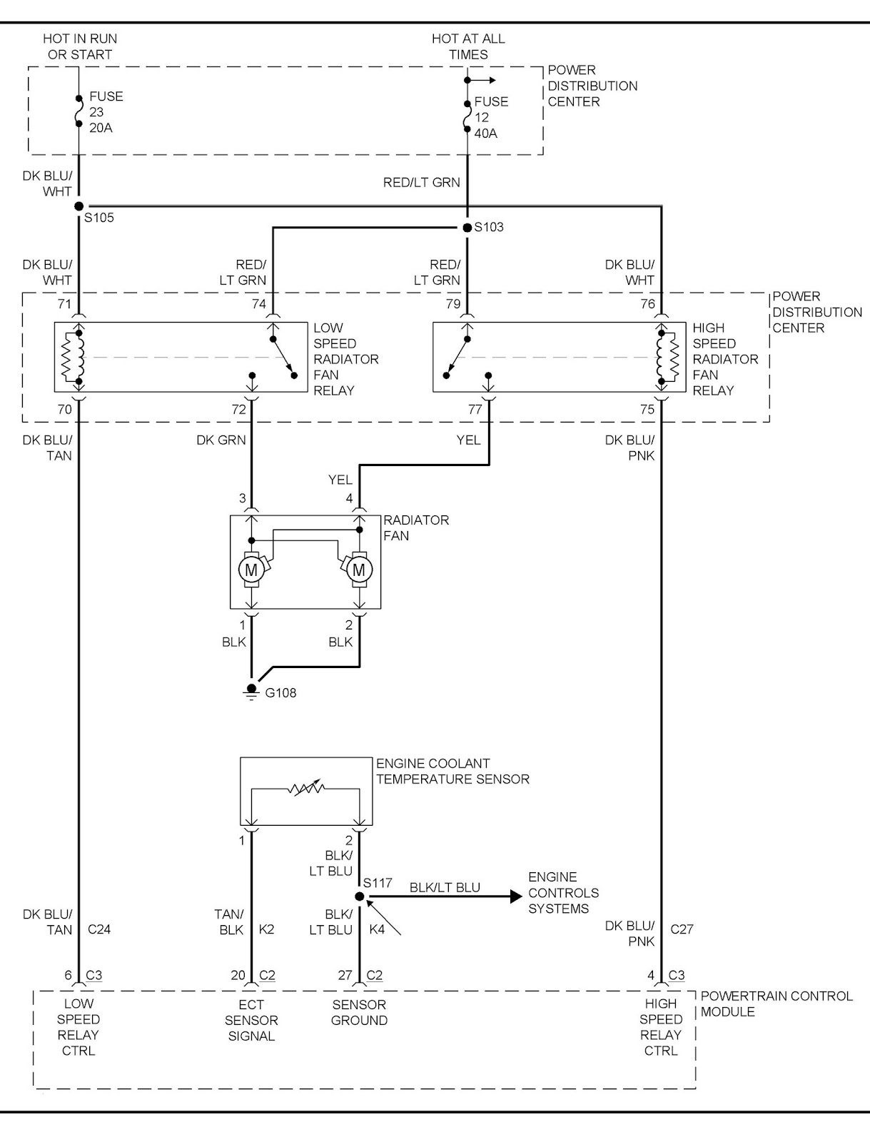 temperture 2008 chrysler 2 7 engine diagram