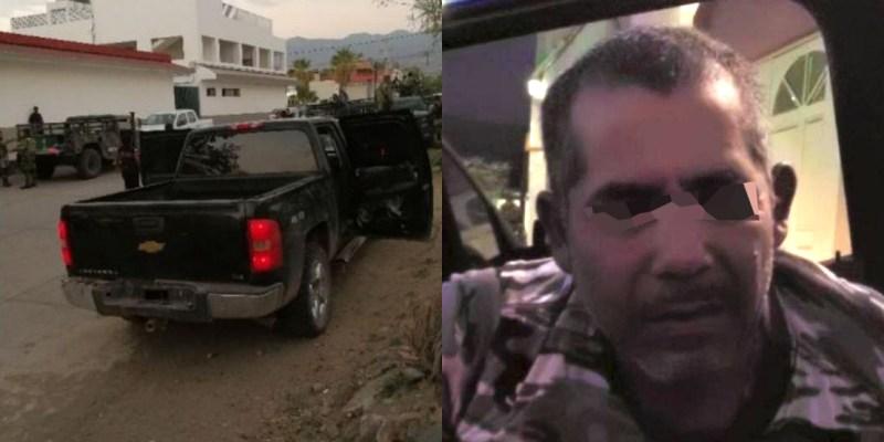 Elementos de la BOM detienen a operador del CJNG con arsenal y en vehículo blindado en Michoacán