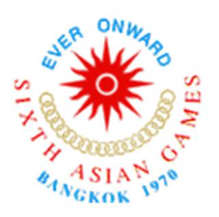 Logo Asian Games Ke 6 Tahun 1970 di Bangkok, Thailand