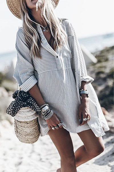https://www.luvyle.com/v-neck-single-breasted-striped-long-sleeve-casual-dresses-p-42967.html