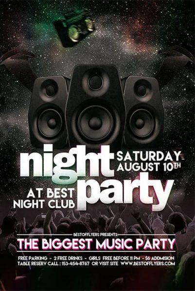 Party night free club flyer template download free flyer templates party night free club flyer template saigontimesfo