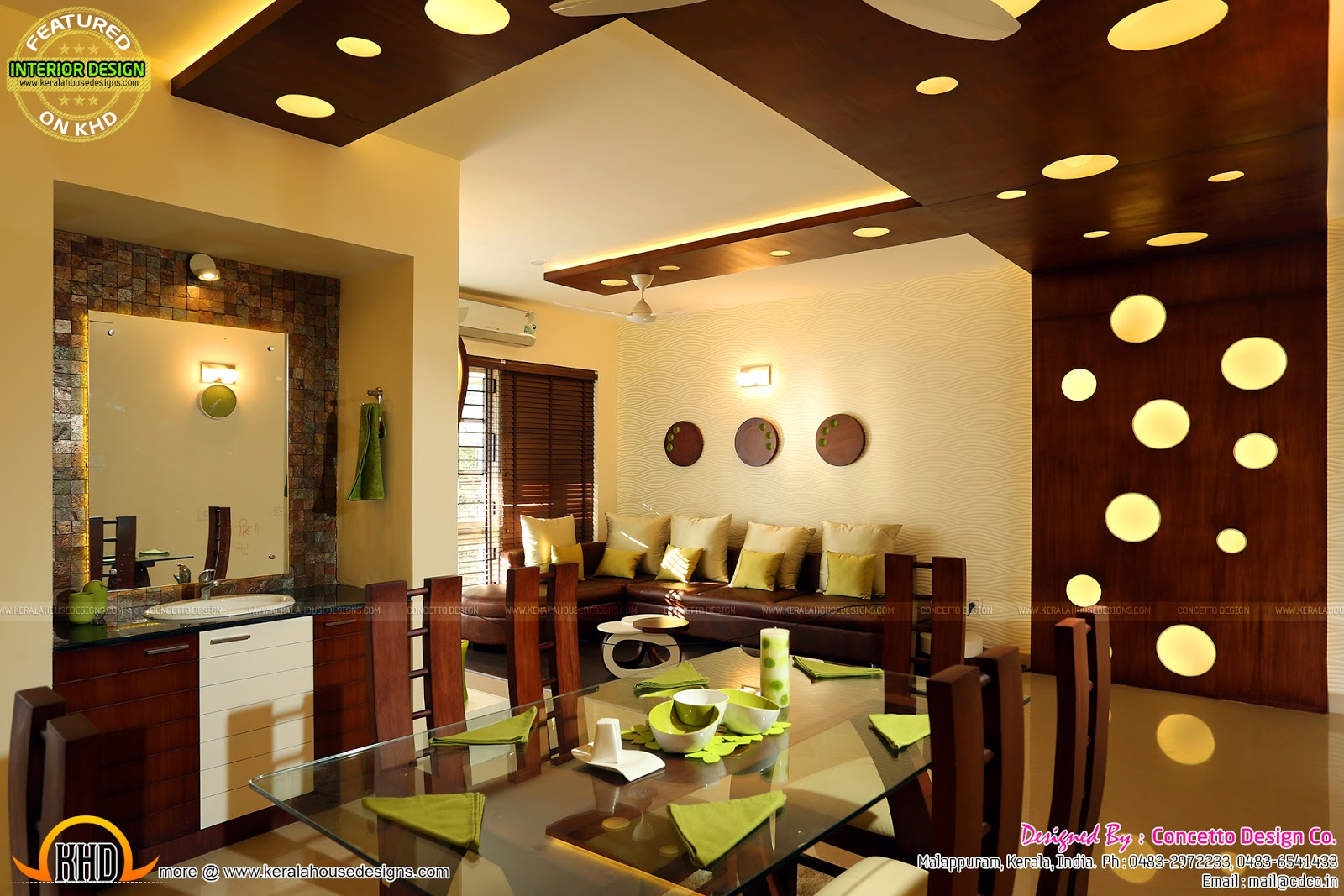 living room designs indian style gray sets kerala flat interior design - home and floor ...