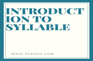 INTRODUCTION TO SYLLABLE