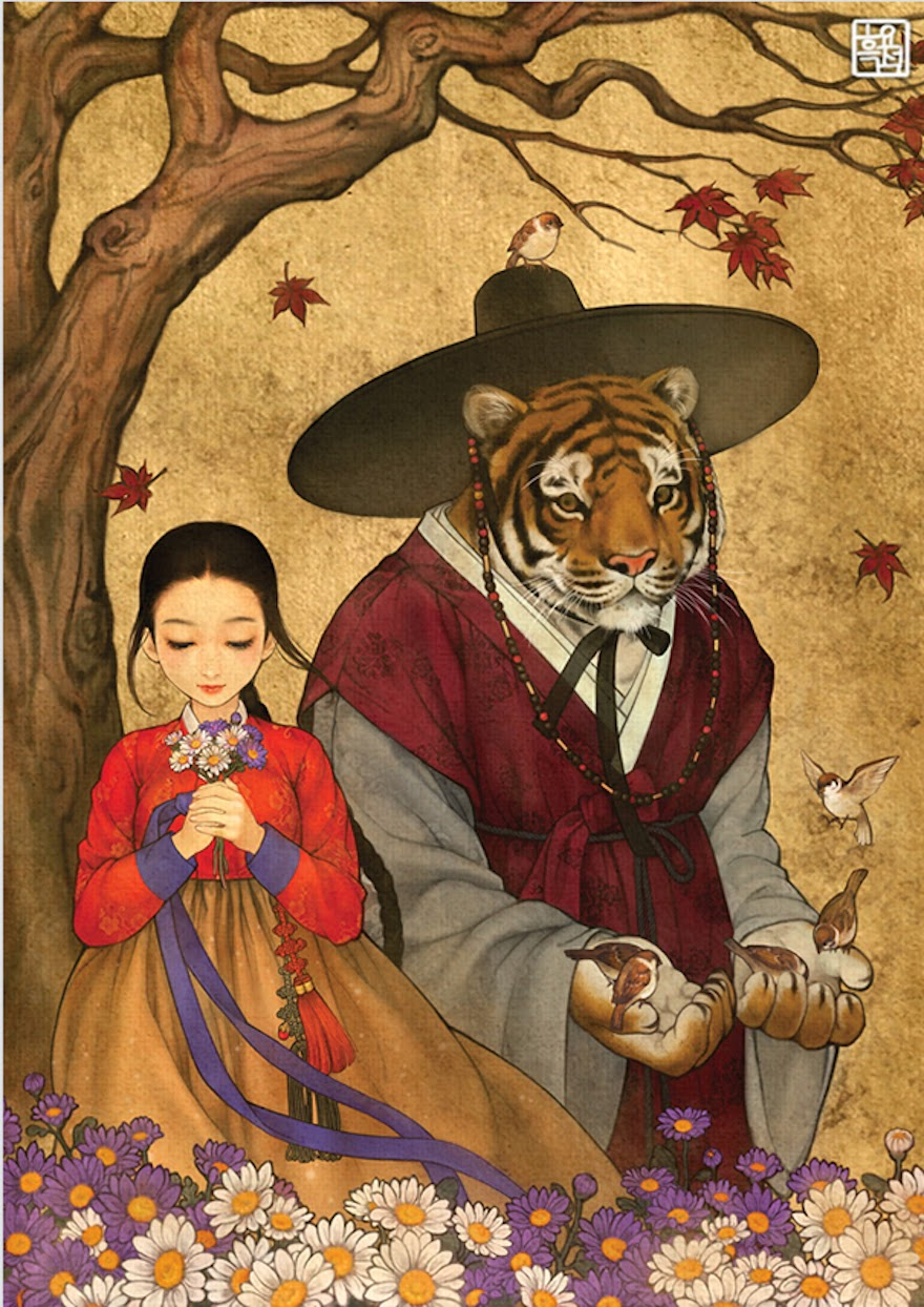 Famous Western Fairytales Get An Eastern Makeover By Korean Artist - Beauty And The Beast