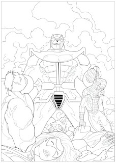 Thanos Character Of Marvel Coloring Pages