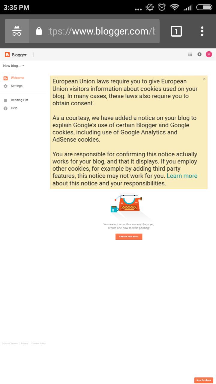 cara mudah membuat blog di blogspot tampilan dashboard