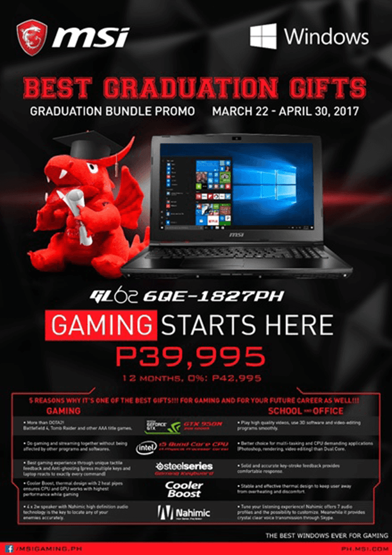 MSI Notebook Graduation Promo Announced!