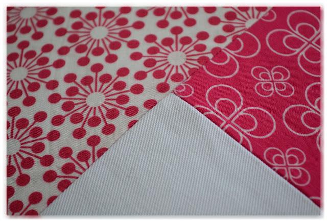zoom patchwork rose et blanc