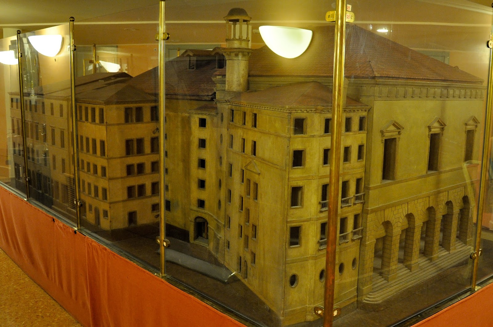 A scaled down model of the theatre, La Fenice, Venice, Italy