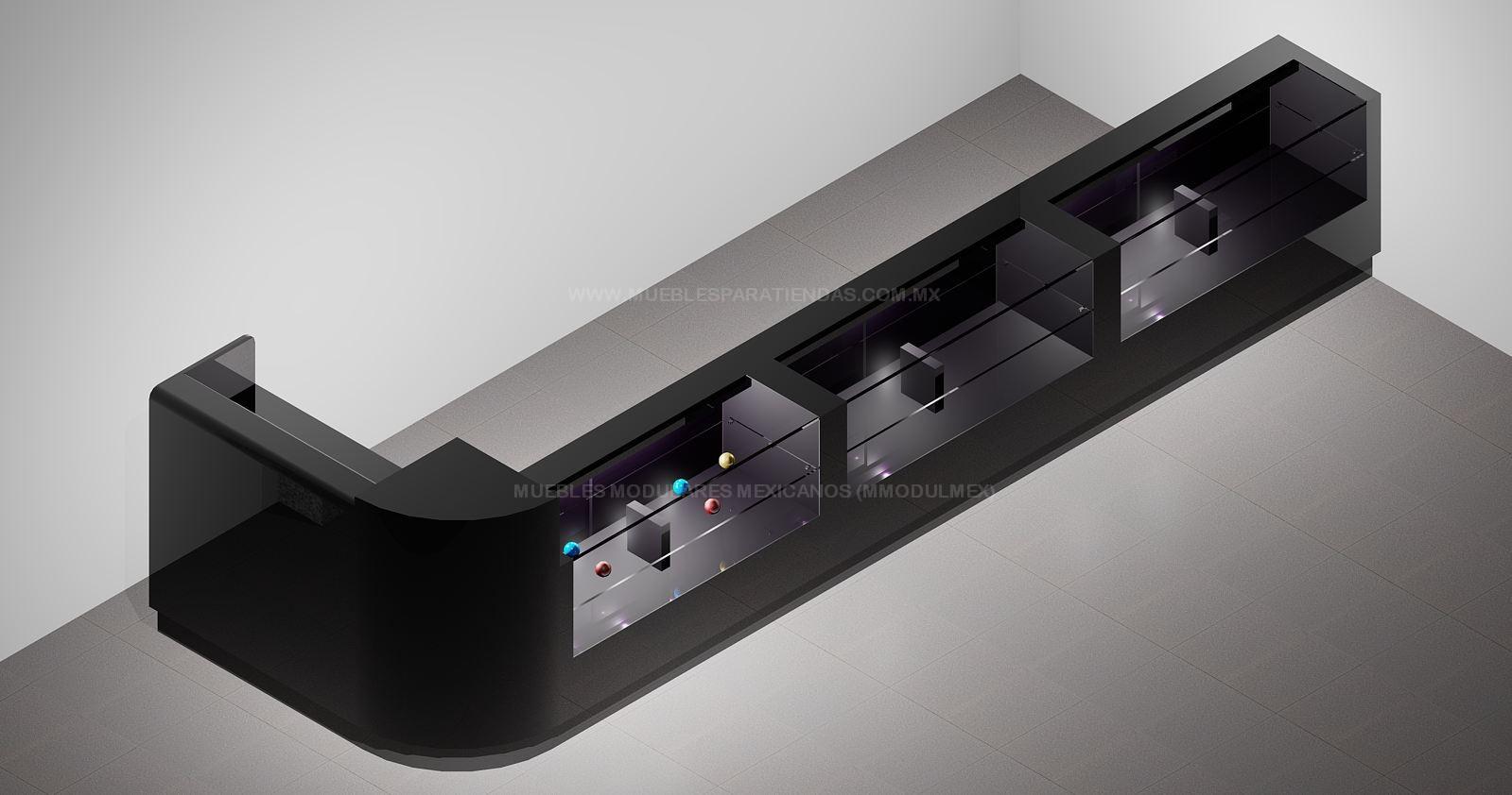 Mostradores de tiendas vitrinas para farmacias muebles for Diseno de muebles metalicos pdf
