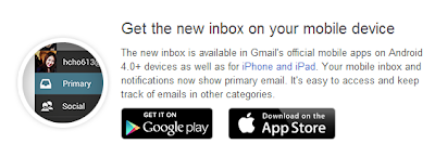 Get the new inbox on your mobile device