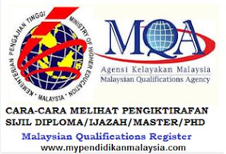Cara Cara Untuk Semakan Pengiktifan Mqa Jpa Ipta Ipts Di Malaysia Mypendidikanmalaysia Com