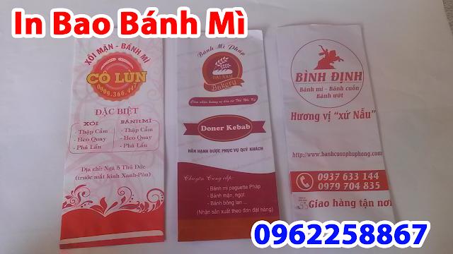 Chuyên in túi bánh mì giá rẻ tại HCM - In logo bao bánh mì